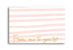 Pink Stripes Address label|Pink Stripes Adressticker
