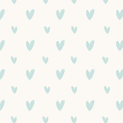 Hearts Wallpaper mint2|Hearts behang mint2