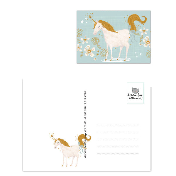 Unicorn Postcard|Unicorn Postkaart