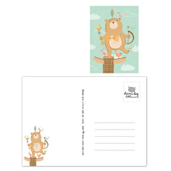 Native indian bear Postcard|Indianenbeer Postkaart