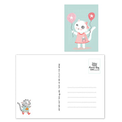 Kitten balloon Postcard|Kitten ballon Postkaart