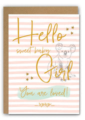 Baby girl Greeting card|Baby girl Wenskaart