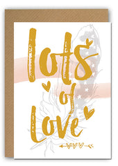 Lots of love Greeting card|Lots of love Wenskaart