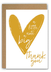 Thank you note Greeting card|Thank you note Wenskaart