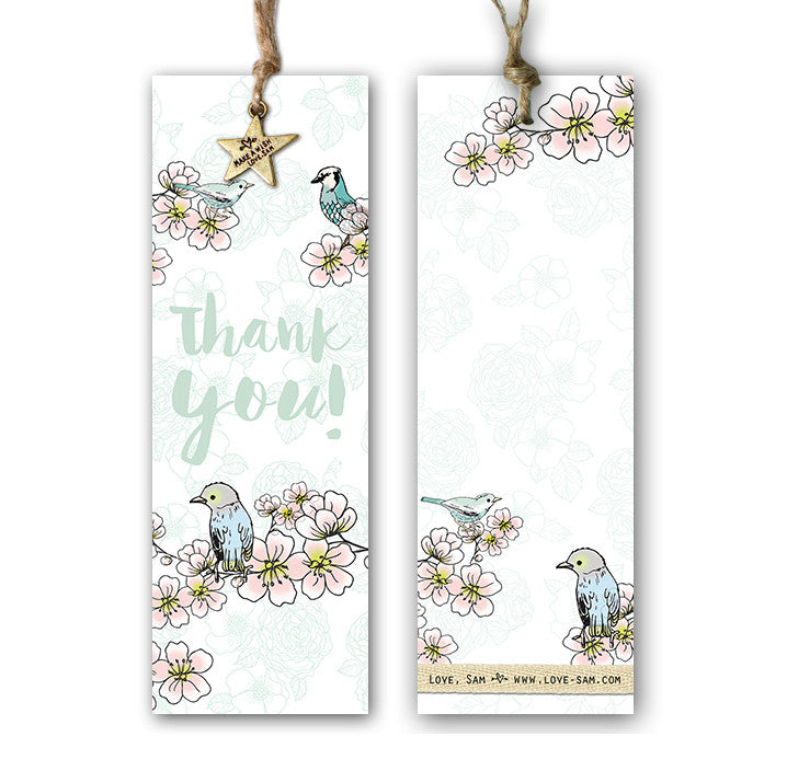 Thank you blossom Gift tag|Thank you blossom Cadeaulabel