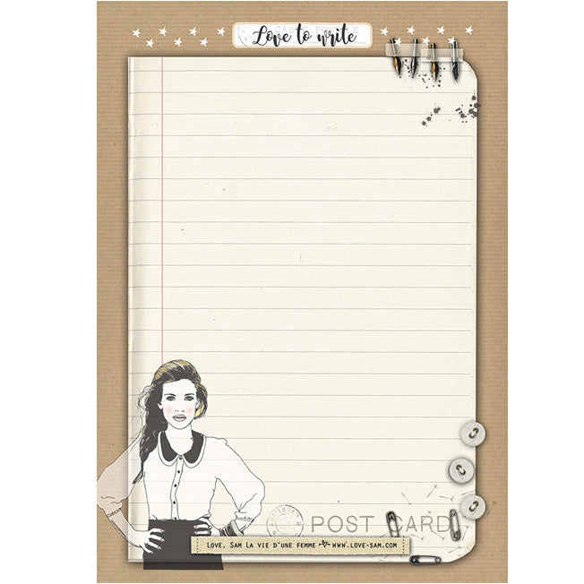 Vintage girl notepad|Vintage girl notitieblok