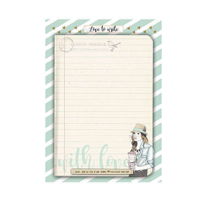 Ibiza girl notepad|Ibiza girl notitieblok