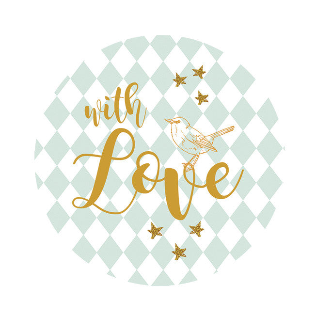 With love Seal sticker|With love Sluitzegel