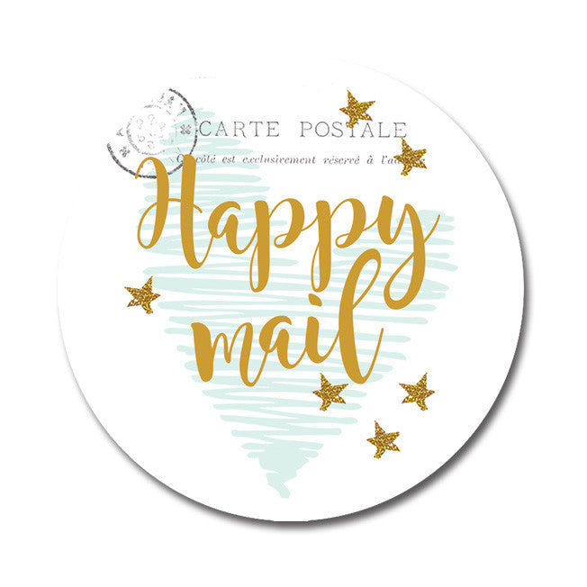 Happy mail Seal sticker|Happy mail Sluitzegel