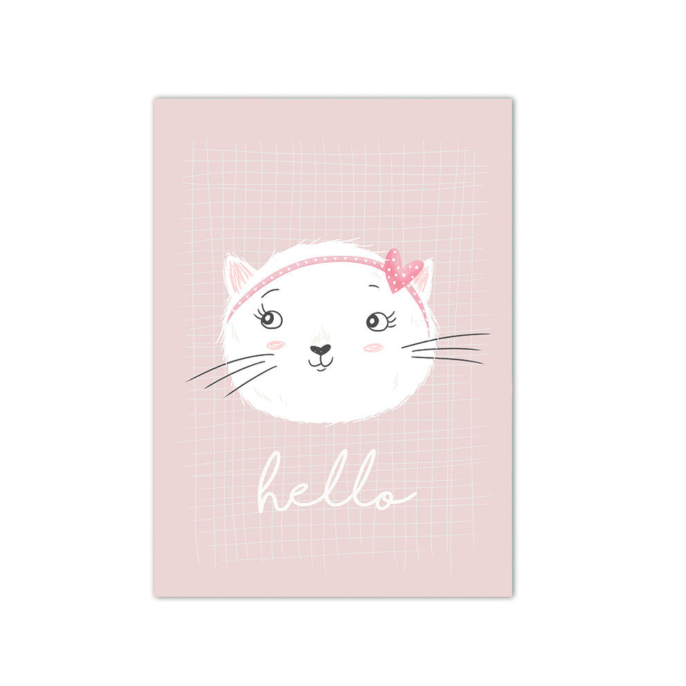 Hello kitten Postcard|Hello kitten Postkaart