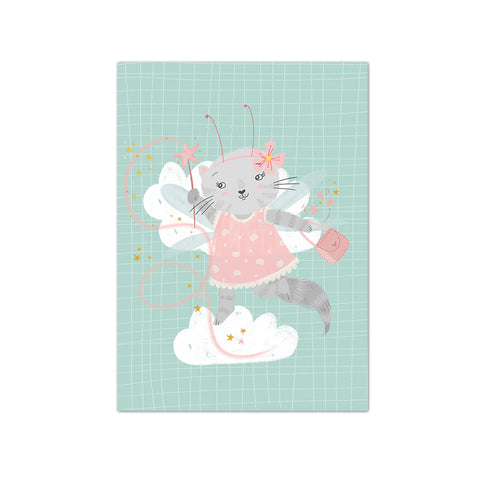 Fairy cat Postcard|Fee Postkaart