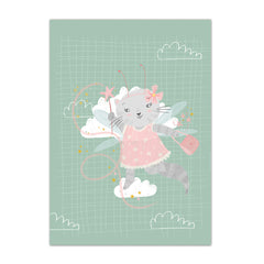A3 Poster Fairy cat |A3 Poster Fee kat
