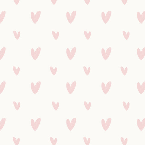 Hearts Wallpaper pink|Hearts behang roze