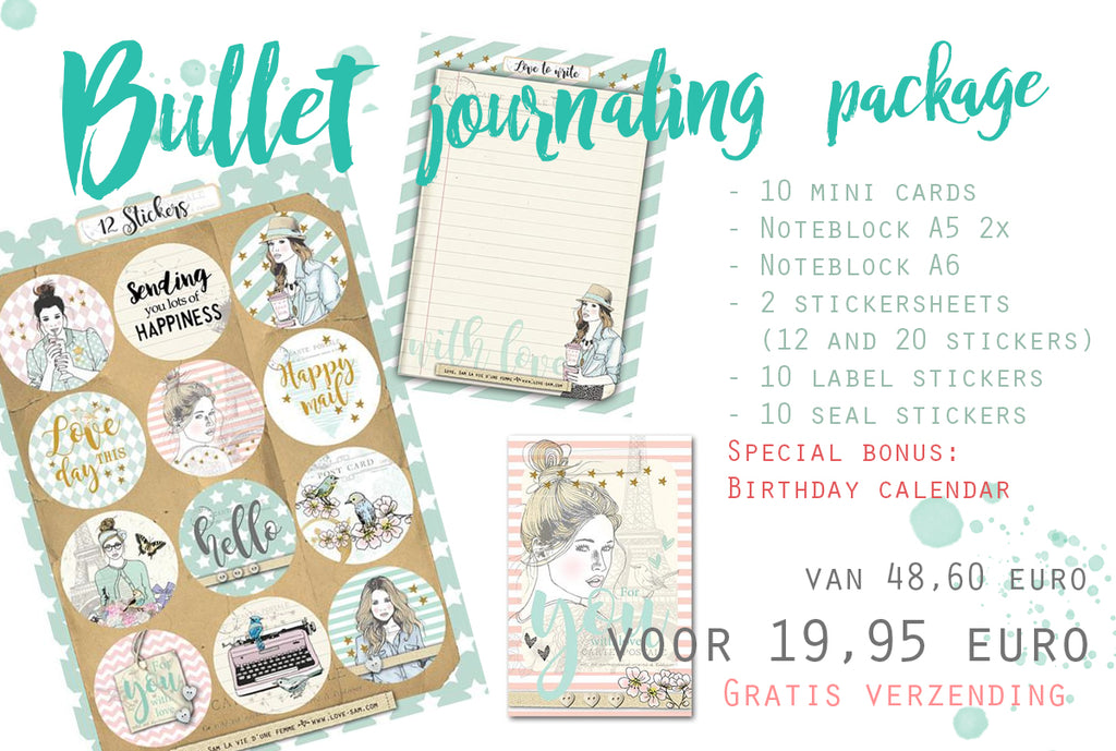 Bullet journaling package|Bullet journaling pakket