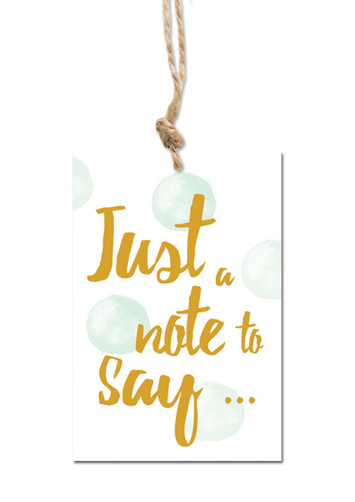 Just a note Gift tag|Just a note Cadeaulabel