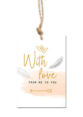 With love Gift tag|With love Cadeaulabel