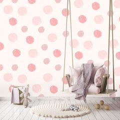 Dots Wallpaper multi pink|Dots behang multi roze