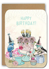Birthday cake Postcard|Birthday cake Postkaart