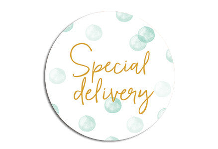 Special delivery Seal sticker|Special delivery Sluitzegel