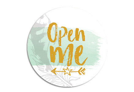 Open me Seal sticker|Open me Sluitzegel