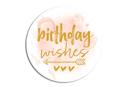 Birthday wishes Seal sticker|Birthday wishes Sluitzegel
