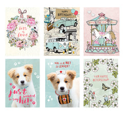Vintage set1 Greeting card|Vintage set1 Wenskaart