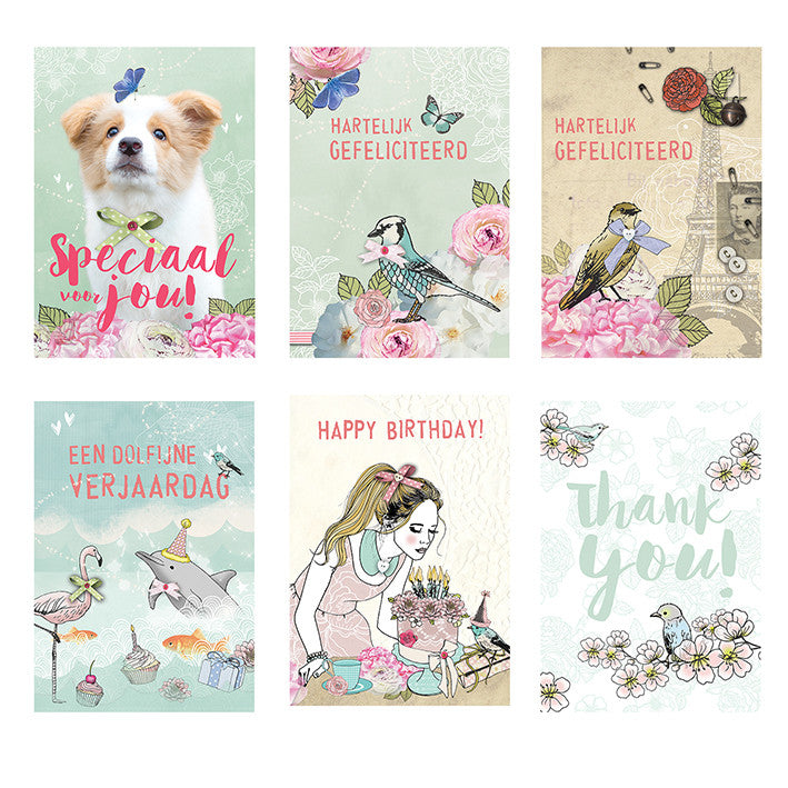 Vintage set3 Greeting card|Vintage set3 Wenskaart
