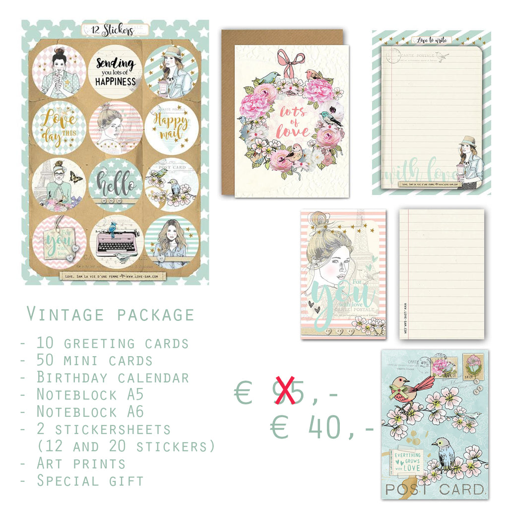 Vintage package|Vintage stationery pakket