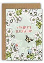 Get well roses Greeting card|Beterschap rozenWenskaart