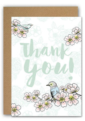 Thank you blossom Greeting card|Thank you blossom Wenskaart