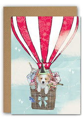 Skyeler Hot air balloon Greeting card|Skyler luchtballon Wenskaart