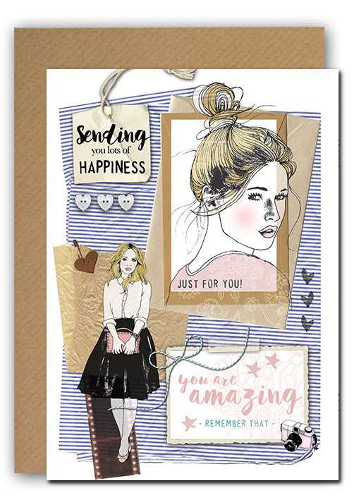 Girl you are amazing! Greeting card|Girl you are amazing! Wenskaart