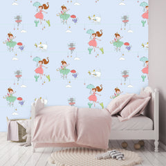 Ballerina Wallpaper blue|Ballerina behang blauw