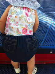 Designer Profile - Celeste Fernandez Denim Diaper Cover