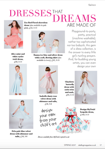Darling Magazine editorial on MyTwirl