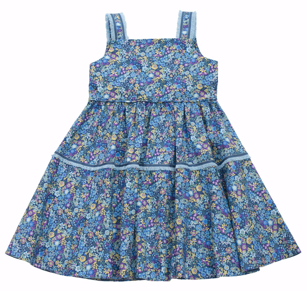 MyTwirl Dress 3/4 / Blue Hannah Blue twirly dress