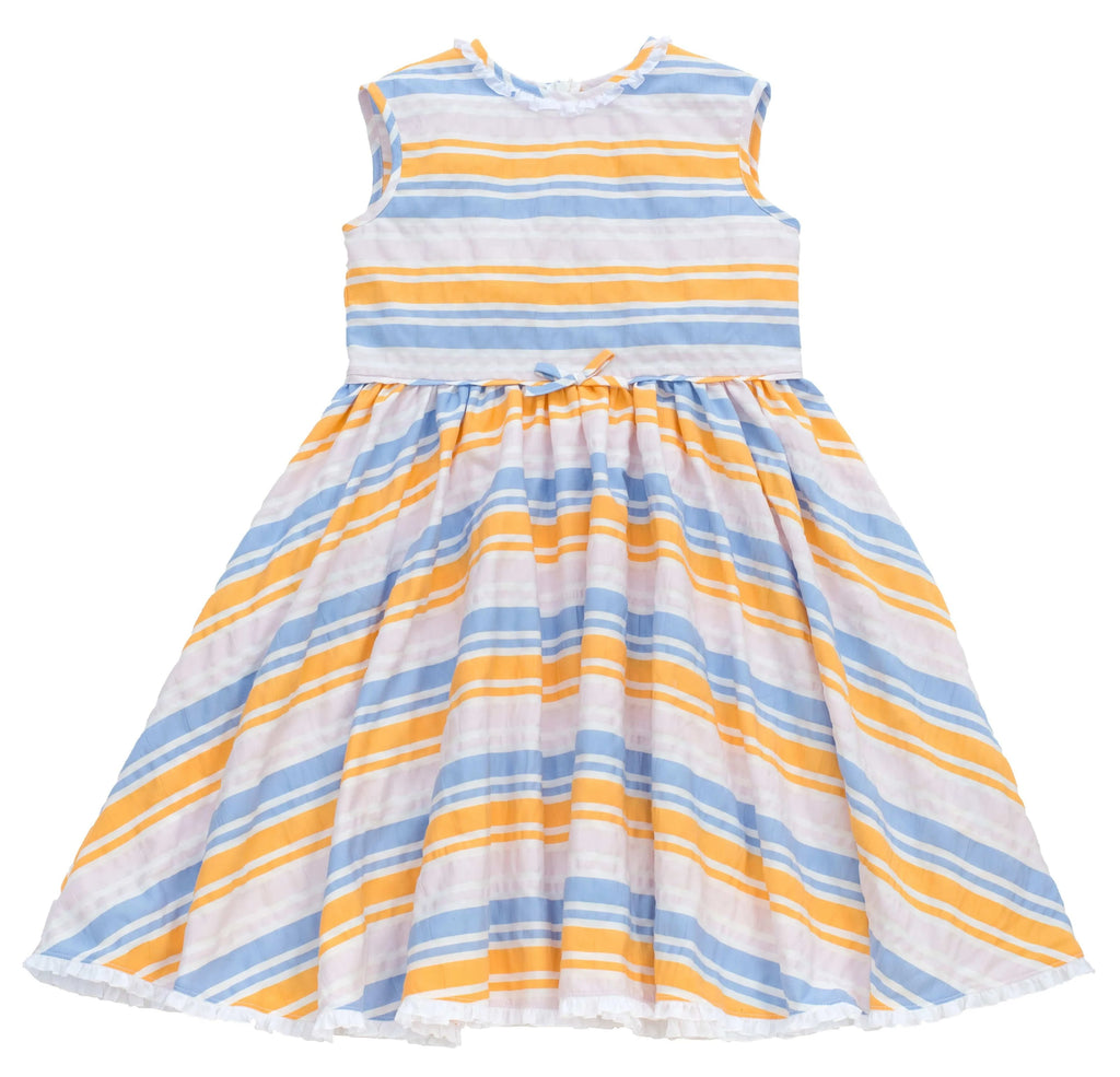 MyTwirl Dress 3/4 / Blue/Yellow Chloe Blue/Yellow twirly dress
