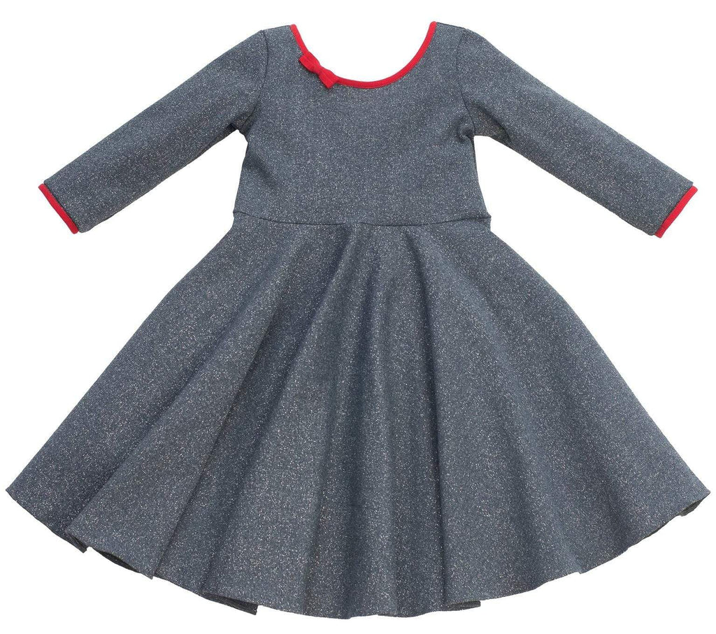 MyTwirl Dress 3/4 Brooke Indigo/Red twirly dress