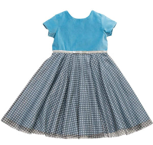 MyTwirl Dress 3/4 Elisabeth Blue twirly dress