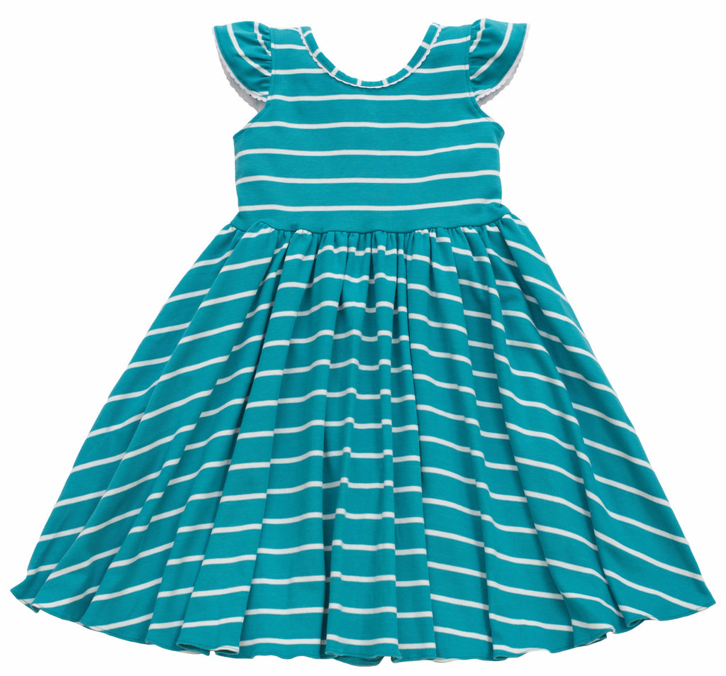 MyTwirl Dress 3/4 Emily Teal twirly dress