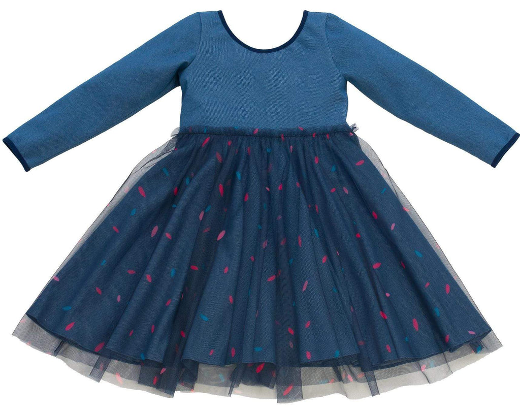 MyTwirl Dress 3/4 Olivia Navy twirly dress