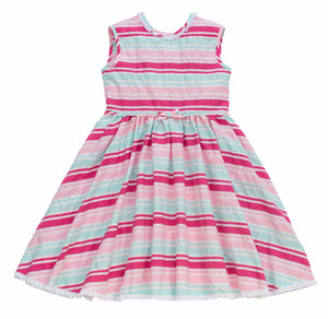 MyTwirl Dress 3/4 / Pink/Mint Chloe Pink/Mint twirly dress