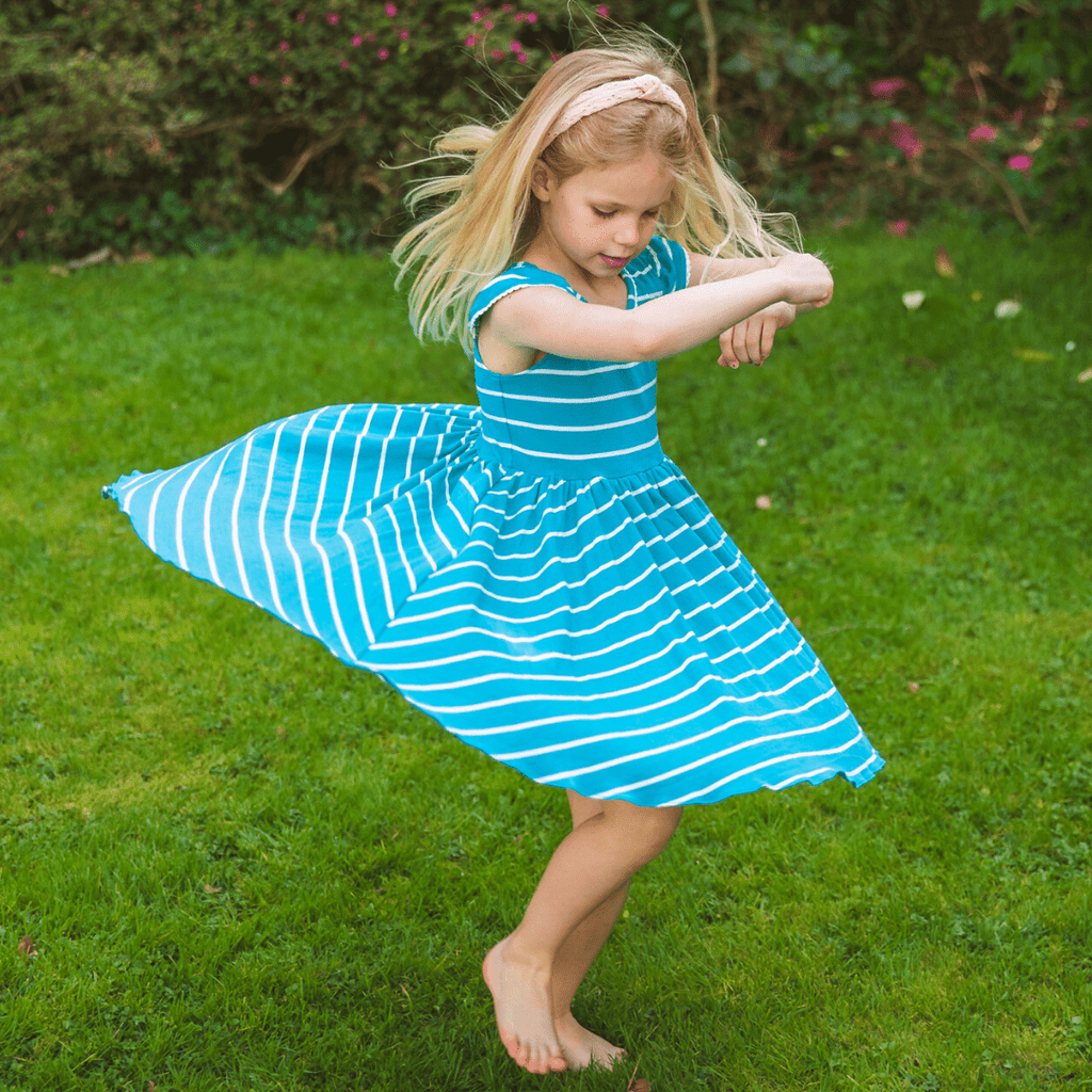MyTwirl Dress Emily Teal twirly dress