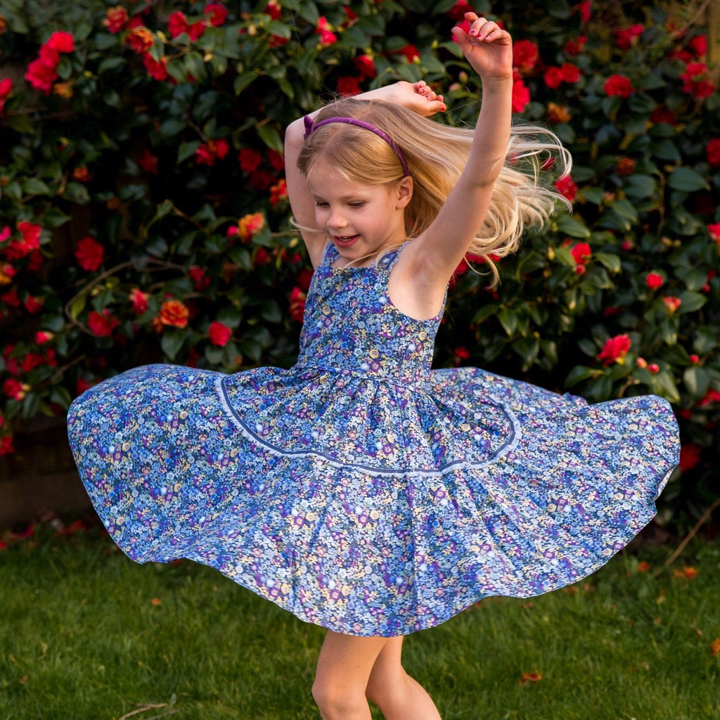 MyTwirl Dress Hannah Blue twirly dress