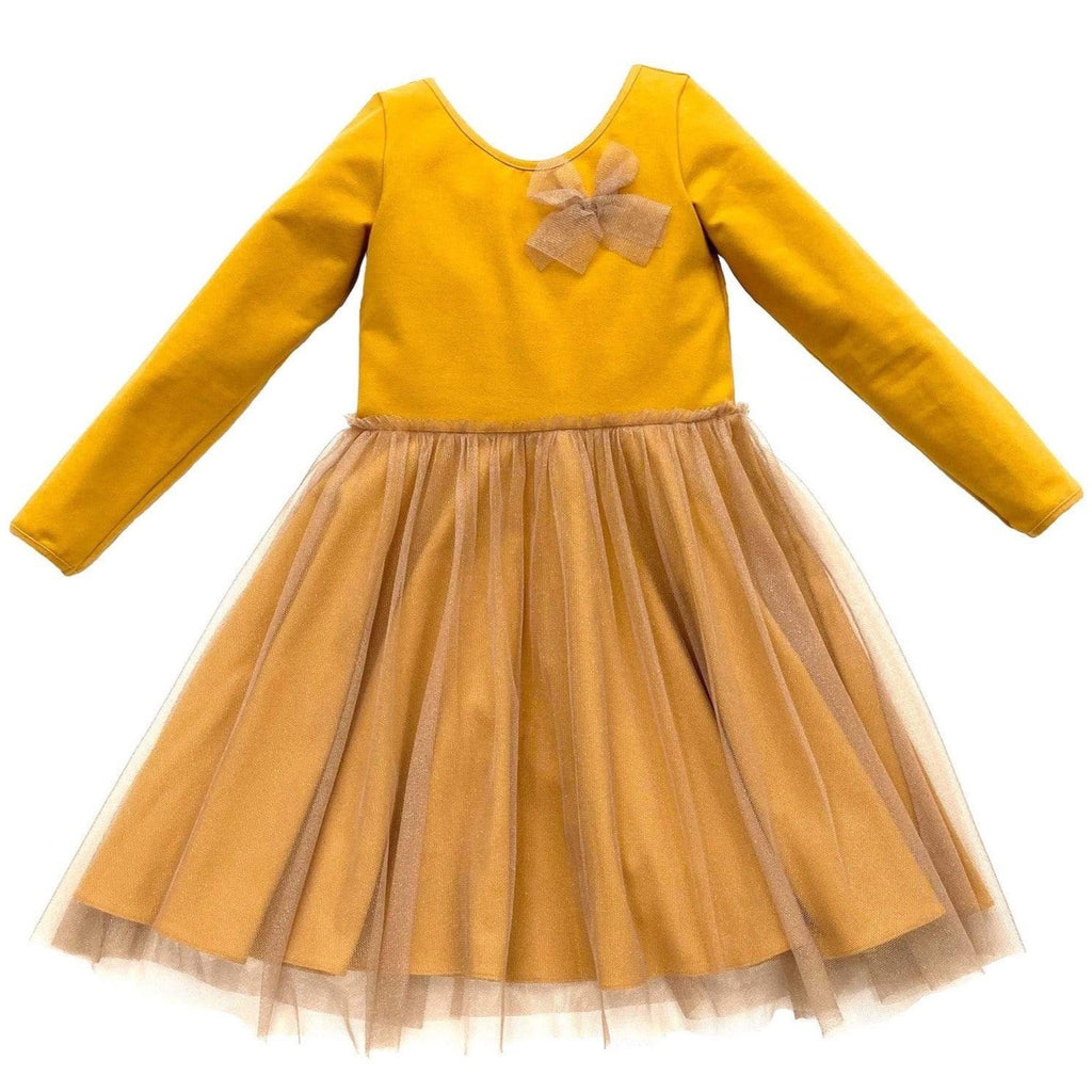 MyTwirl Dress Harper Gold twirly dress