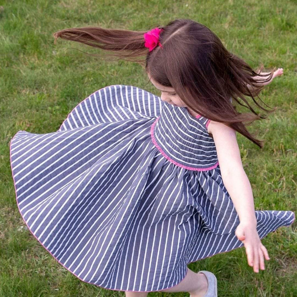 MyTwirl Dress Ivy Navy twirly dress