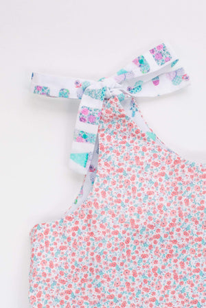 MyTwirl Dress Lucy Coral/Mint twirly dress