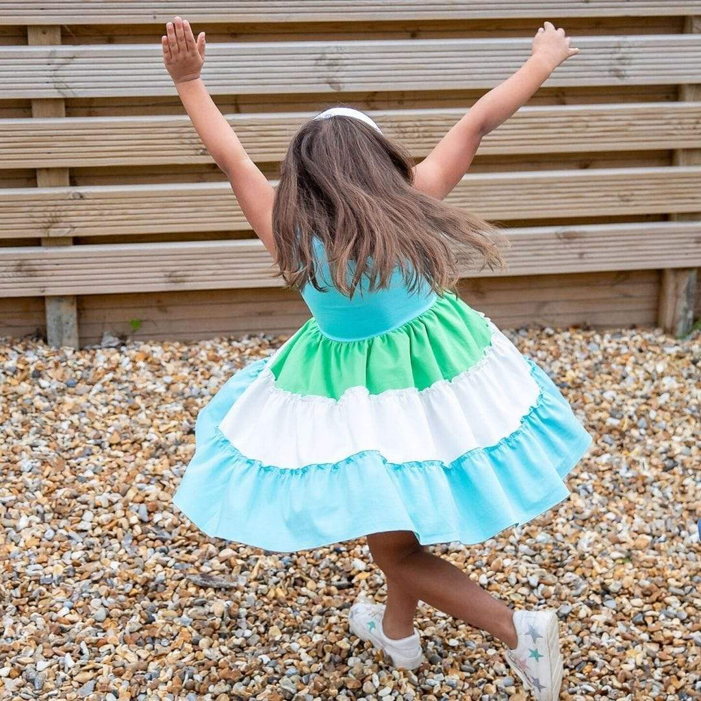 MyTwirl Dress Riley Aqua twirly dress