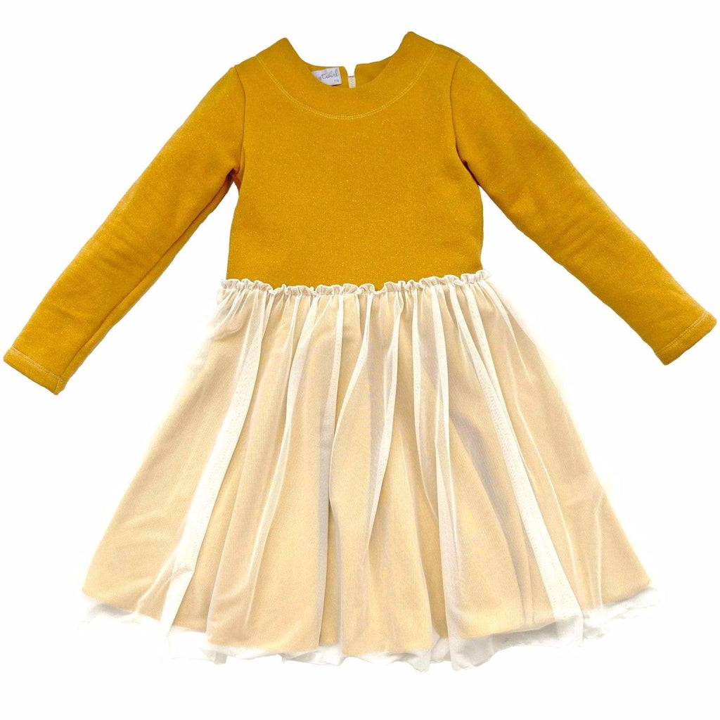 MyTwirl Dress Savana Gold twirly dress