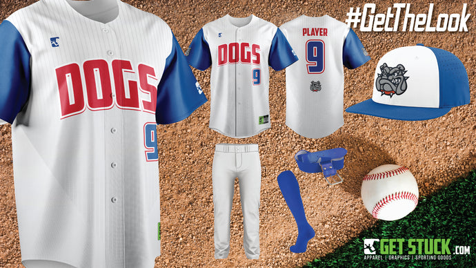 Bulldogs Pin Stripe Full Button Uni Package